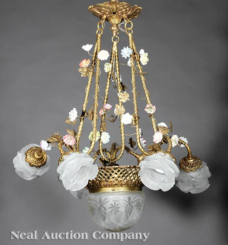 Pair of Louis XV-Style Chandeliers