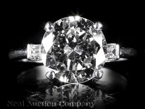 Platinum and Diamond Lady's Engagement Ring