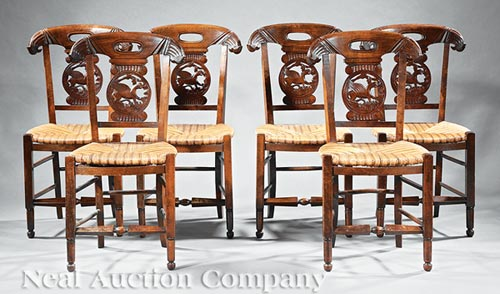 Ten Provincial Dining Chairs