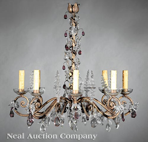 Italian Patinated Chandelier