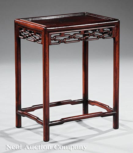 Chinese Carved Hardwood Side Table