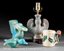 Four Shearwater Pottery Figural Pieces
