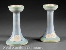 Pair of Newcomb Pottery Candlesticks