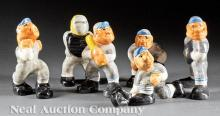 Six Shearwater Pottery Baseball Player Figures