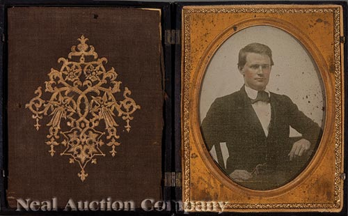 American Half-Plate Hand-Colored Ambrotype