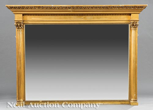 Monumental American Late Classical Gilt Mirror