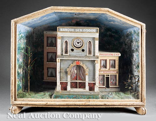 French Provincial Painted Diorama Clock