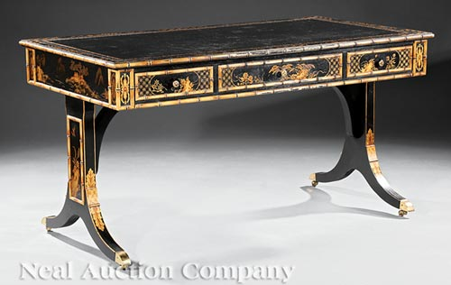 Regency-Style Chinoiserie Writing Table