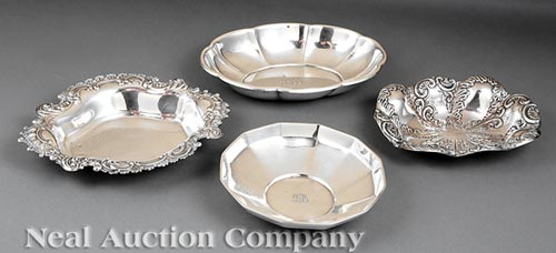 American Sterling Silver Bonbon Dishes