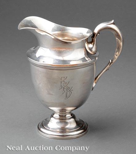 American Sterling Silver Water Pitcher, Redlich