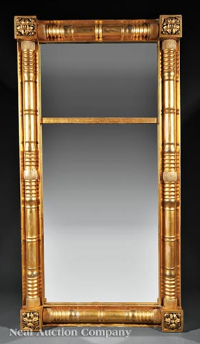 American Classical Giltwood Looking Glass