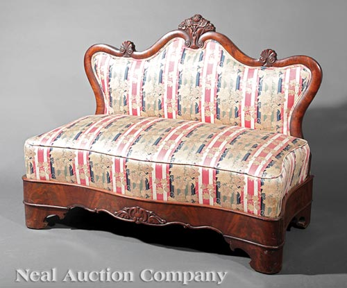 American Restauration Mahogany Slipper Sofa