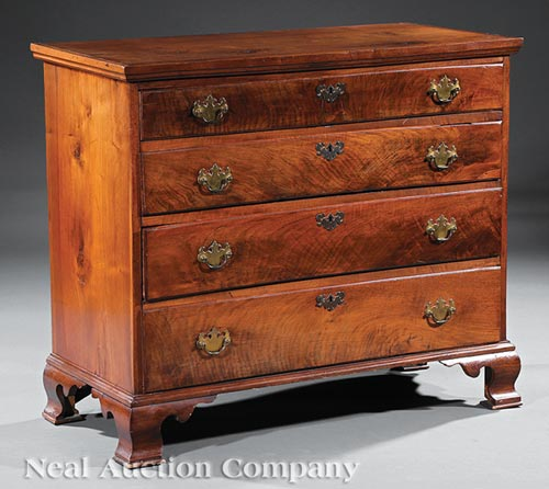 American Chippendale Walnut Chest of Drawers