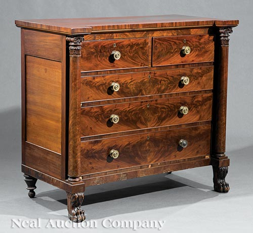 American Classical Mahogany Chest of Drawers