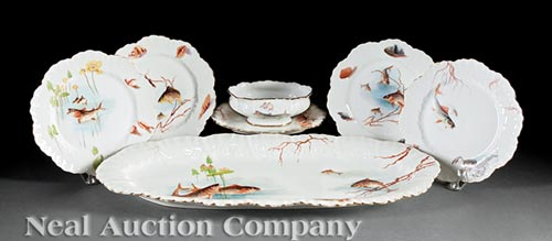Limoges Fish Service, William Guerin & Co.