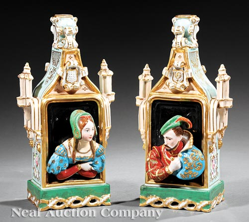 Pair of Jacob Petit Porcelain Scent Bottles