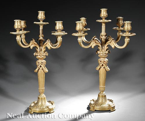 Pair of Louis XVI-Style Candelabra