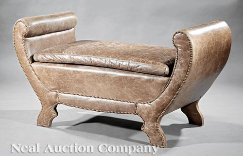 Argentine Leather Bench