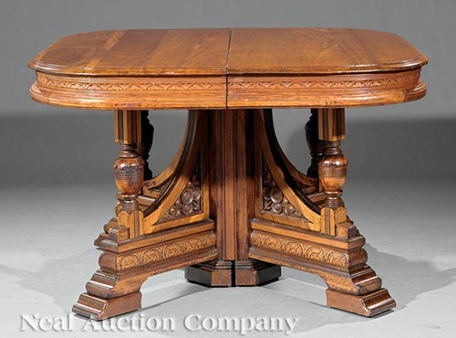 Extension Dining Table, attr. to T. Brooks
