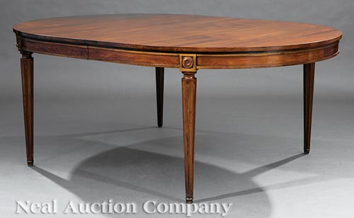 Directoire-Style Walnut Extension Dining Table
