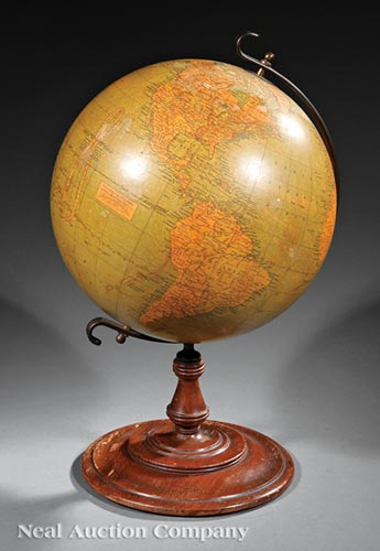 Antique American Twelve-Inch Terrestrial Globe