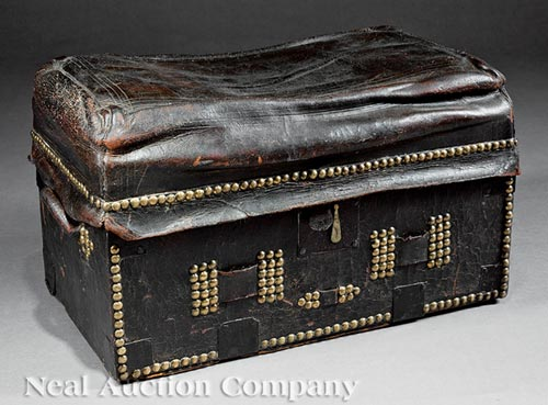 American Leather and Wood Trunk