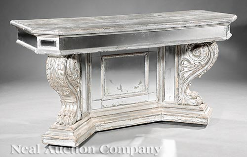 Carved and Argente Console