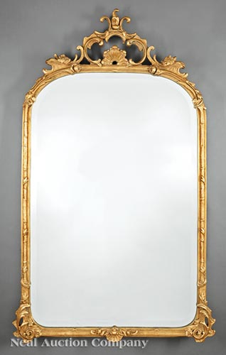 Louis XVI-Style Carved Giltwood Mirror
