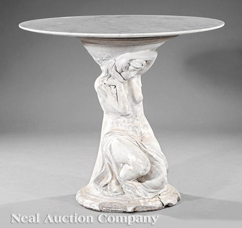 Classical Marble and Cast Stone Center Table