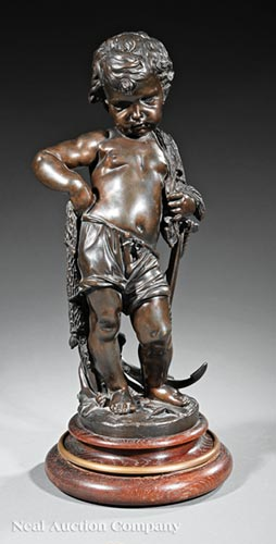 Bronze Figure of a Young Fisherboy