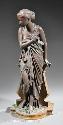 Bronze Figure of a Lady with a Lamp