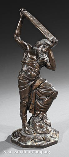 Bronze Figure of Moses Breaking the Tablets of th