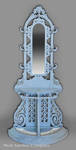French Cast Iron Hall Stand