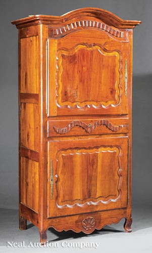 French Provincial-Style Fruitwood Bonnetiere