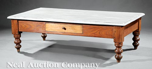 French Elm Low Table