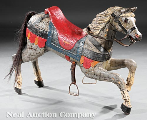 American Carved and Polychromed Carousel Horse
