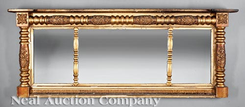 American Classical Overmantel Mirror