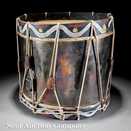 Italian Brass and Polychromed Marching Drum