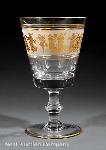 Val Saint Lambert Gilt Glass Vase