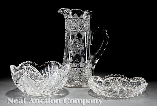 Group of American Brilliant Cut Glass