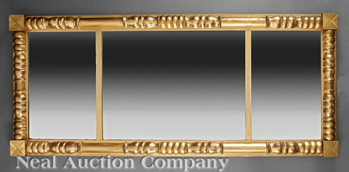 American Late Classical Giltwood Mirror