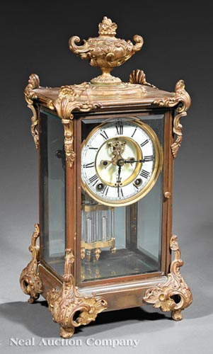 American Brass and Crystal Regulator Clock