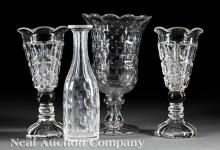Four American Glass Table Articles