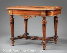Bronze-Mounted and Inlaid Rosewood Center Table