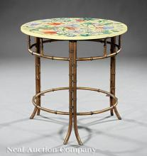 Chinese Porcelain, Gilt Metal Side Table