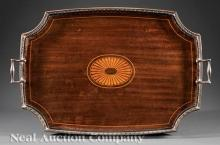 Tiffany & Co. Makers Mahogany Gallery Tray