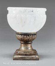 Antique Neoclassical-Style Rock Crystal Urn