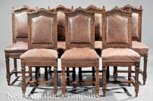American Belle Epoque Carved Walnut Side Chairs