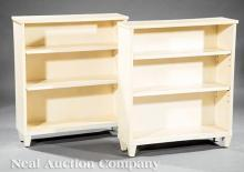 American Art Deco Vellum-Covered Bookcases