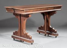 T. P. Sherborne Carved Walnut Extension Table